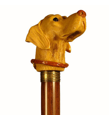 Cast Resin Labrador Dog Head Collectable Walking Stick 37 inches