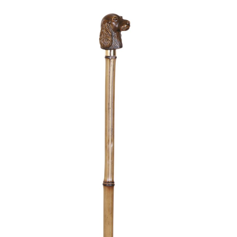 Elegant Bamboo Walking Stick Cocker Head Handle