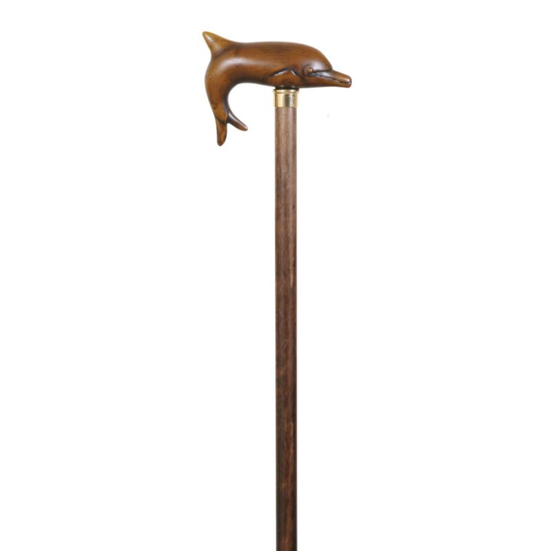 Unusual Dolphin Walking Stick Mounted on Solid Beech Wood Shaft