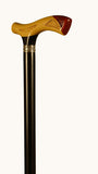 Charmin Ebony Wood Redwood and Boxwood Walking Stick 37 inches
