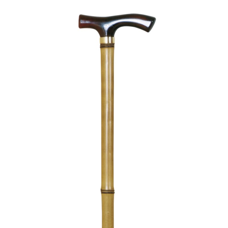 Crutch, plastic handle, bamboo, rubber / Plactic handle, bamboo