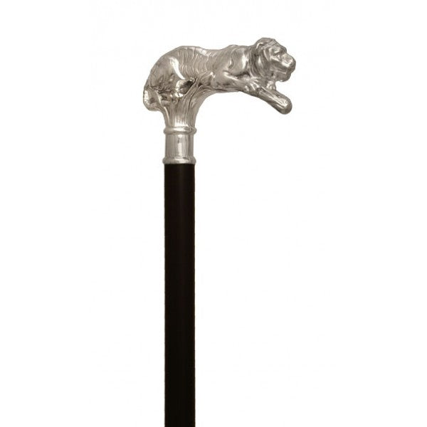 Hallmarked Sterling Silver 925 Tiger Walking Cane