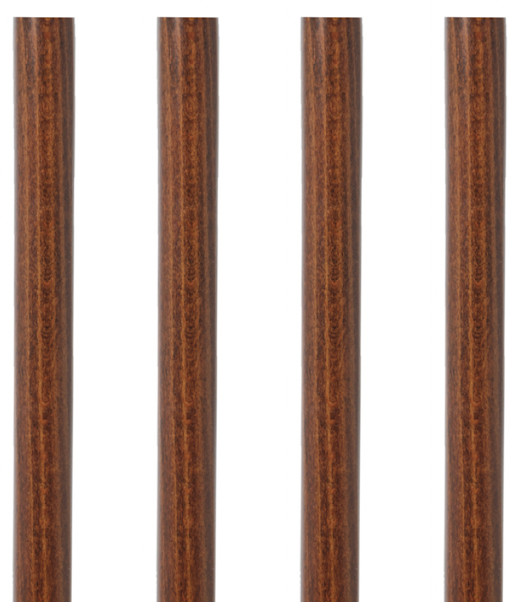 BROWN BEECHWOOD WALKING STICK SHAFT (PRICE IS FOR ONE SHAFT)