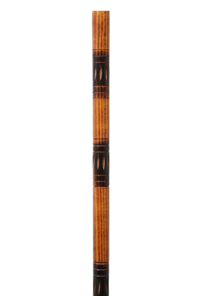 STUNNING CARVED/FLAMED WOOD SHAFT FOR STICK MAKING (PRICE IS FOR ONE SHAFT)