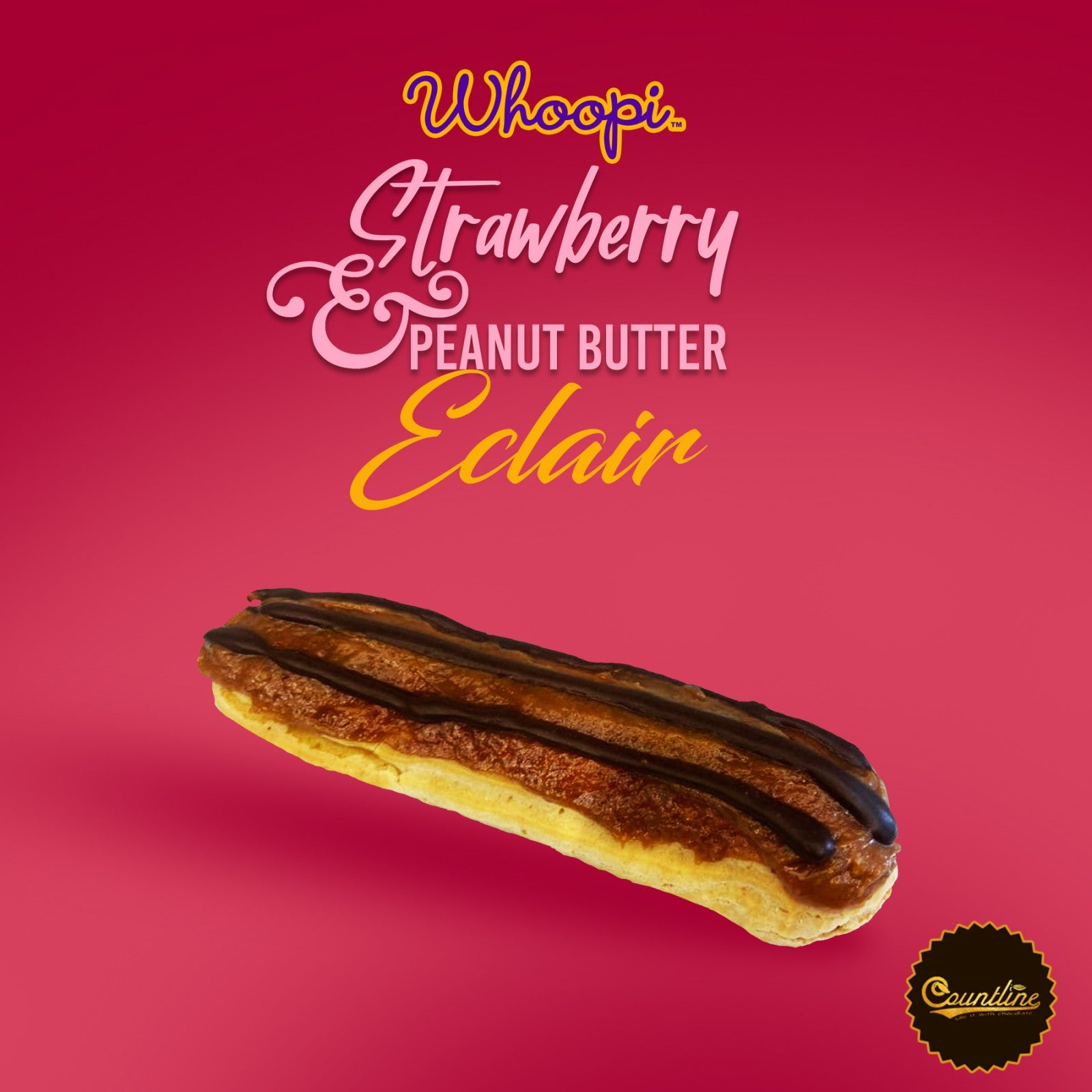 Woopi Strawberry  Peanut Butter Eclair