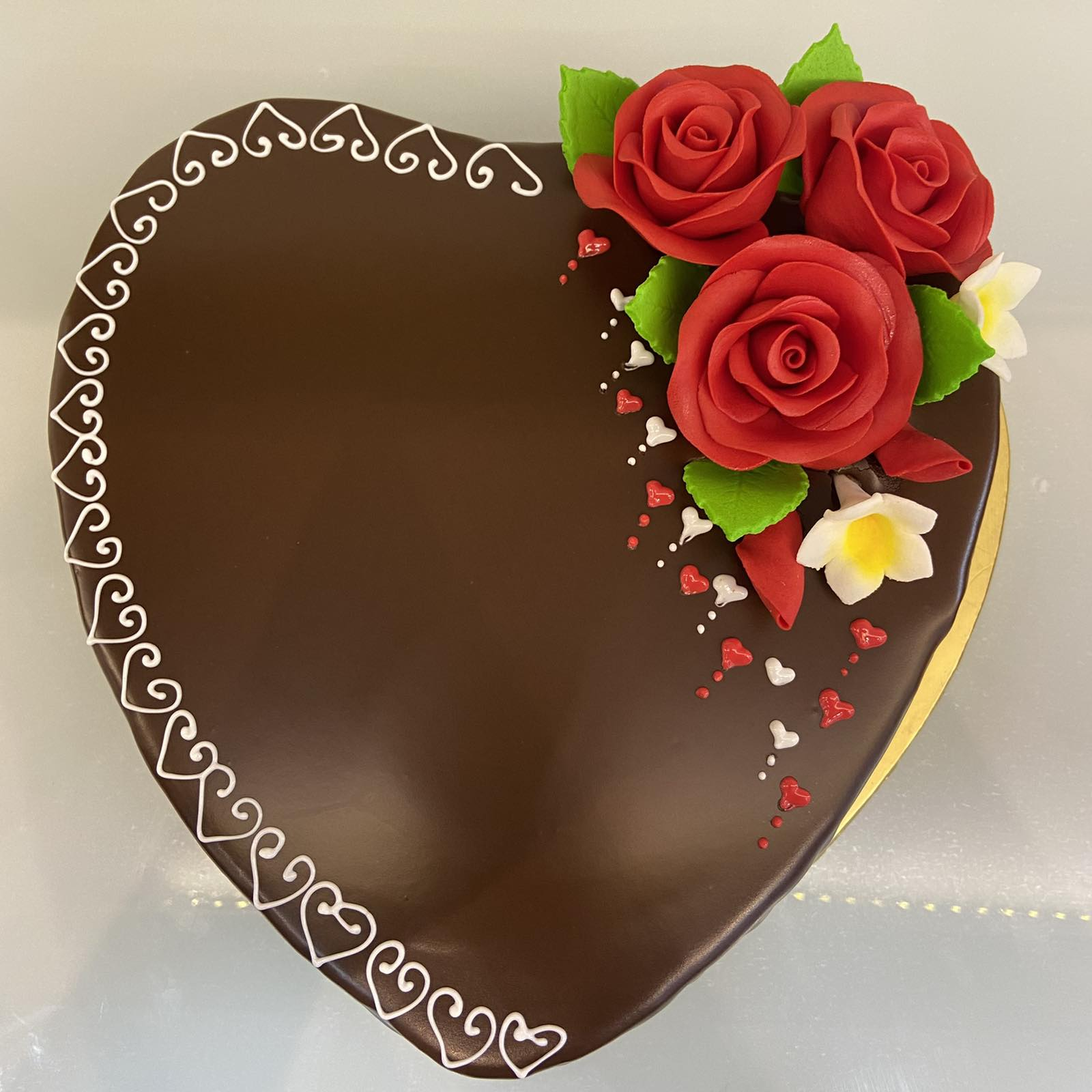 Heart Shaped Chocolate Cake