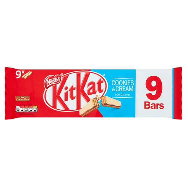 Kit Kat 2 Finger Cookies & Cream Multi Packs (9bars x 20.7g)