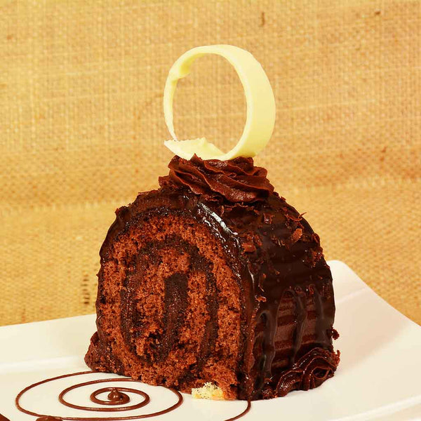 Swiss Roll Cake Slice (Chocolate)