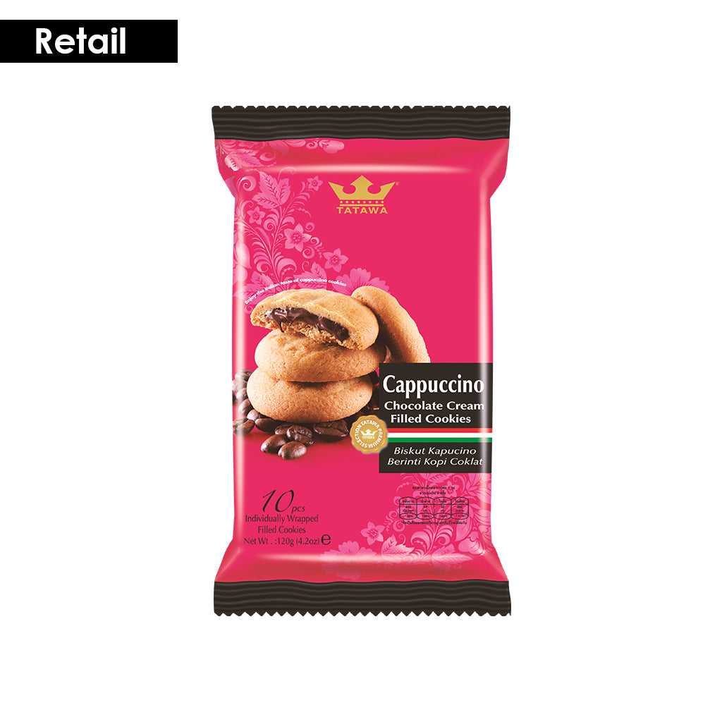 Tatawa Cappuccino Chocolate Cream Filled Cookies 120g