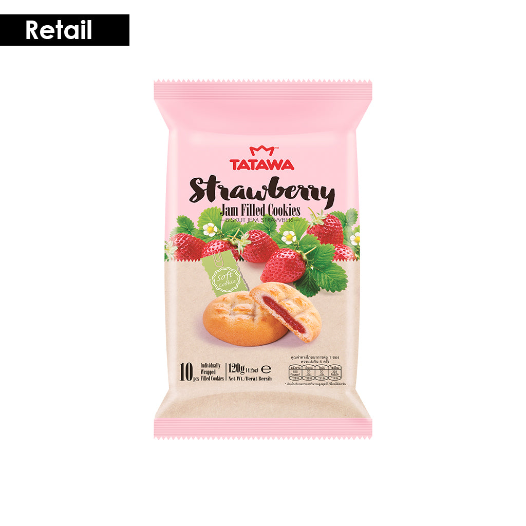 Tatawa Strawberry jam Filled Cookies-  120g