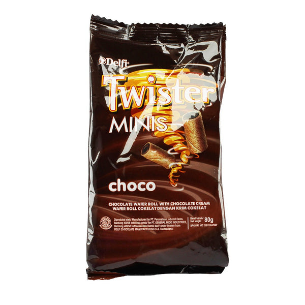 DELFI TWISTER  MINIS CHOCOLATE  80G