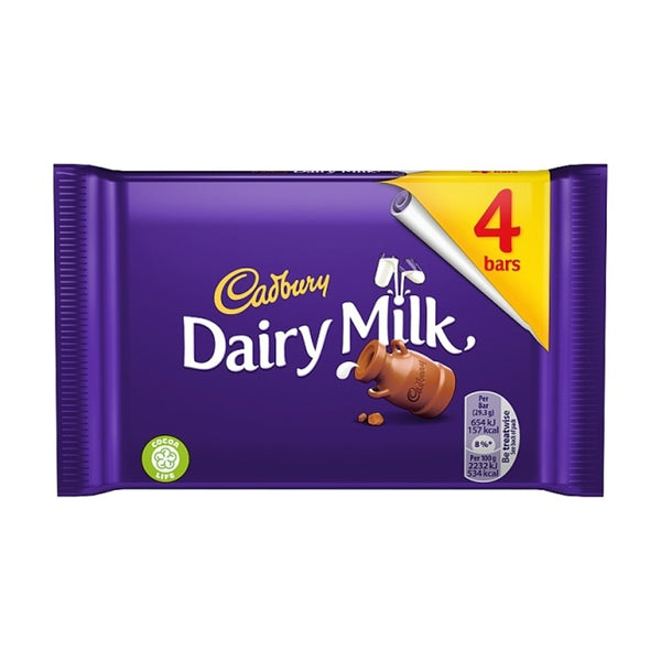 Cadbury Dairy Milk Bar 4pk (4 x 29. 2g)