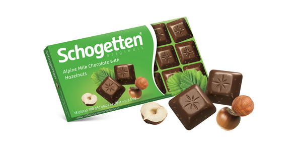 Schogetten Milk / Hazelnut Chocolate 100g
