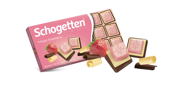 Schogetten Trilogy Strawberry Chocolate 100g
