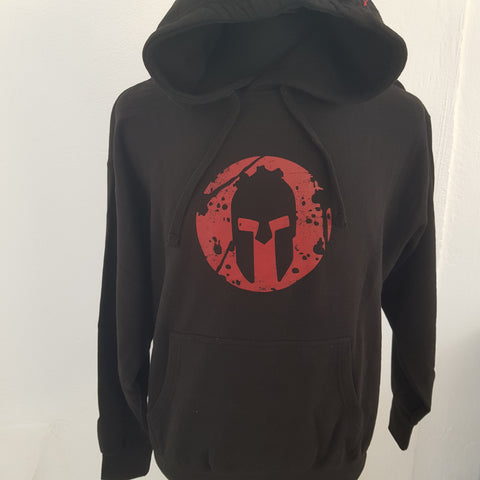 PULLOVER HOODIE BLACK RED CABALLERO