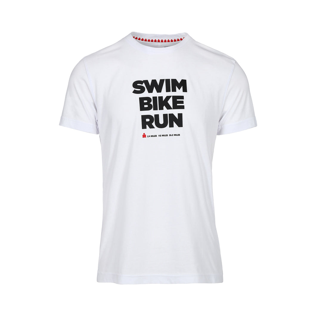 IRONMAN PLAYERA SWIM BIKE RUN CABALLERO BLANCA
