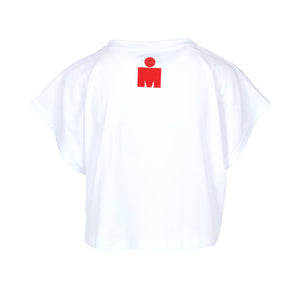 IRONMAN CROP DAMA BLANCO