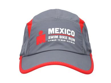 IRONMAN RUNNING CAP GREY/RED