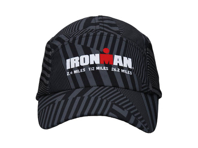IRONMAN RUNNING CAP BLACK STRIPED