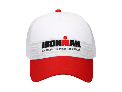 IRONMAN MESH CAP WHITE/RED