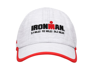 IRONMAN RUNNING CAP MARBLED WHITE/RED