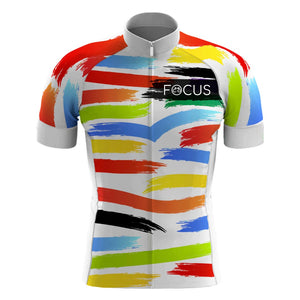 Jersey Blanco Focus Colores Caballero
