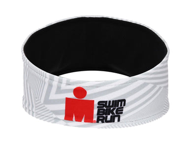 IRONMAN Sweat Band SWIM BIKE RUN WHITE STRIPED