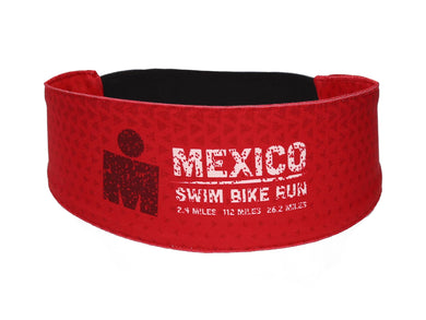 IRONMAN Sweat Band SWIM BIKE RUN RED