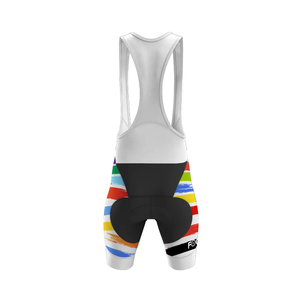 Bib short Blanco Focus Colores  DAMA