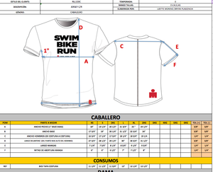 IRONMAN PLAYERA SWIM BIKE RUN CABALLERO VERDE