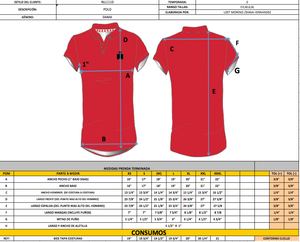 IRONMAN PLAYERA POLO DAMA ROJA