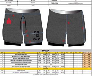 IRONMAN SHORT DOBLE DAMA