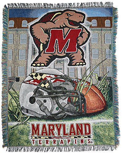 a0183f55a501f The Northwest Company Officially Licensed NCAA Maryland Terrapins Home  Field Advantage Woven Tapestry Throw Blanket,