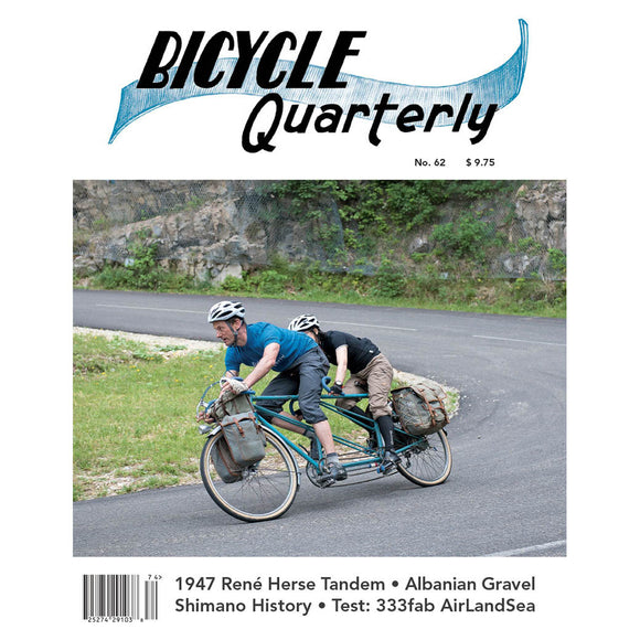 Bicycle Quarterly - #62 (Winter 2017)