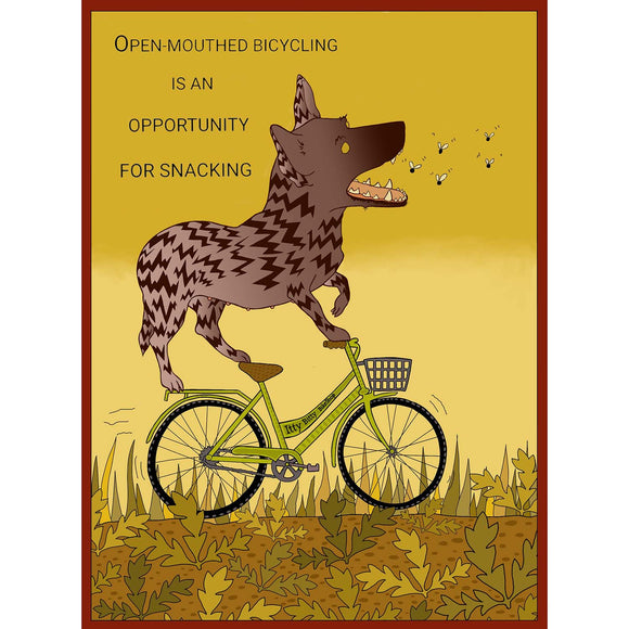 Lydia Puddicombe Print - Bicycle Riding Lu