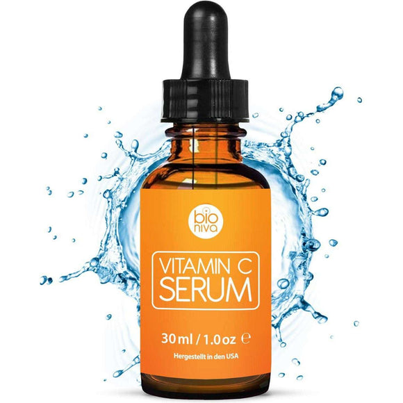 Spar King-Bioniva Vitamin C Serum Hyaluronsäure Gesicht Anti Falten Kollagen Booster 30 ml
