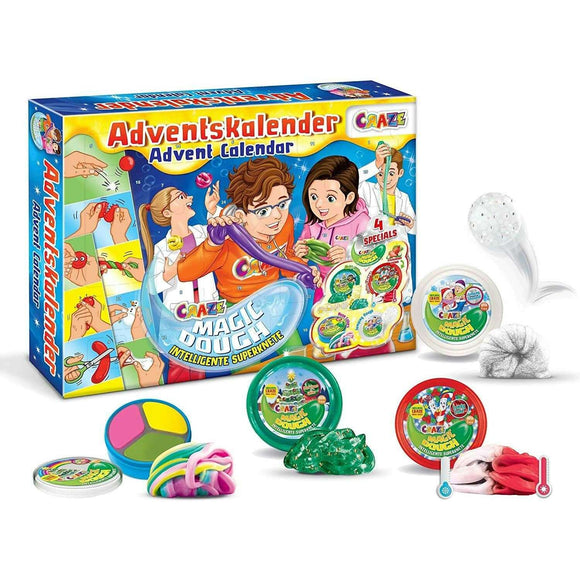 Spar King-Craze 24744 Adventskalender Magic Dough Spielzeug Knete Kinder ab 3 Jahren
