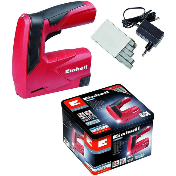 Spar King-Einhell Akku-Tacker TC-CT 3,6 Li Set 3,6V 1,3Ah Softgrip Metallbox Ladegerät