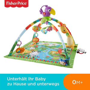 Spar King-Fisher-Price DFP08 Rainforest Erlebnisdecke Krabbeldecke Baby Spieldecke bunt