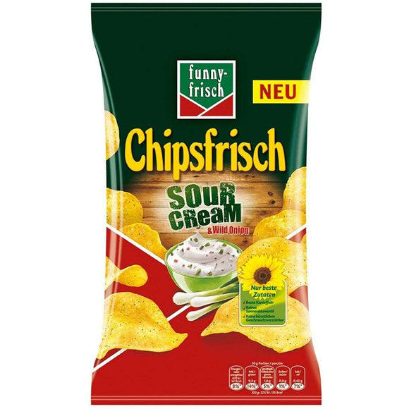 Spar King-Funny-Frisch Chipsfrisch Sour Cream & Wild Onion Chips 10 x 175 g 10er Pack