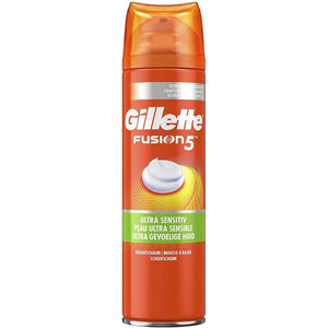 Spar King-Gillette Fusion5 Ultra Sensitive Rasierschaum Männer Herren 2 x 250 ml 2er Pack