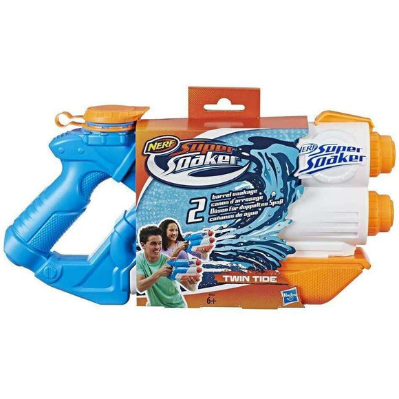 Spar King-Hasbro E0024EU4 Super Soaker Twin Tide Wasserpistole 1,4 Liter Pump-Funktion