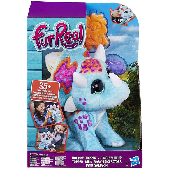 Spar King-Hasbro E7963EU4 FurReal Friends Topper Baby-Triceratops Interaktives Plüschtier