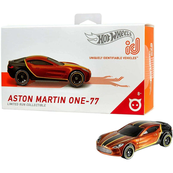 Spar King-Hot Wheels iD FXB07 Die-Cast Fahrzeug 1:64 Aston Martin One-77 NFC-Chip Auto