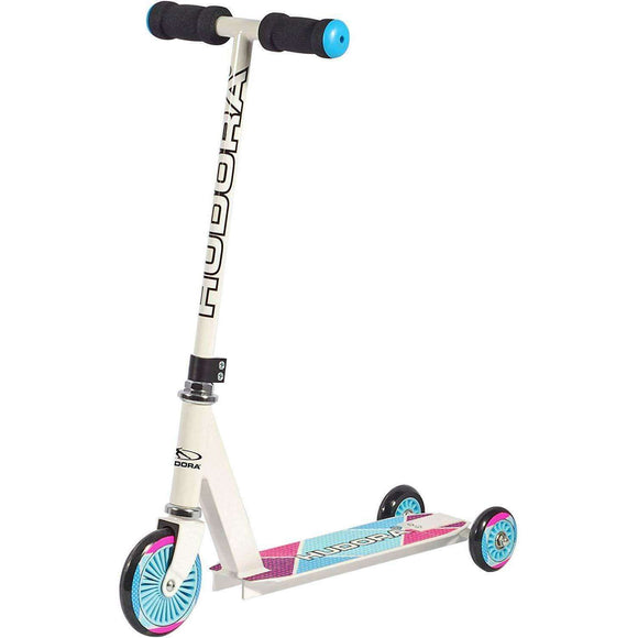 Spar King-HUDORA 22016 Evolution Girl Scooter 2in1 Kinder-Roller 20 kg Tragkraft Weiß