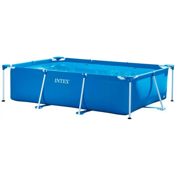 Spar King-Intex 28270 Rectangular Frame Pool Aufstellpool Garten 220 x 150 x 60 cm