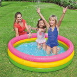 Spar King-Intex 57422 Babypool Kinderpool Sunset Glow 3-Ring Mehrfarbig 147 x 33 cm 335 L