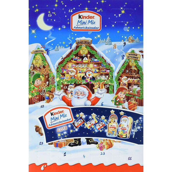 Spar King-Kinder Mini Mix Adventskalender Schokolade Figuren Kinder-Kalender 152 g