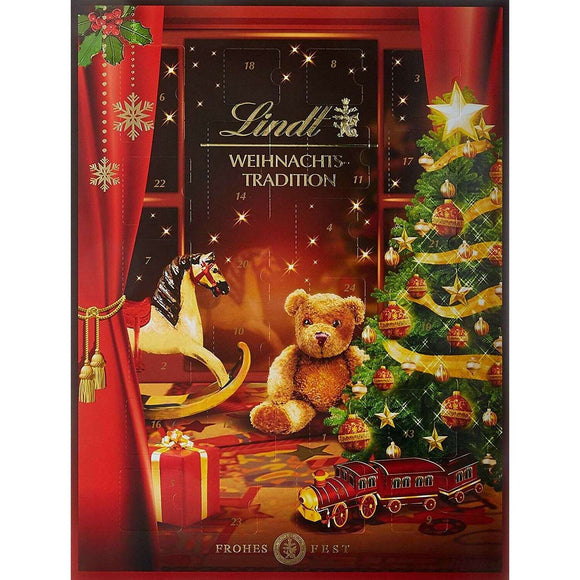 Spar King-Lindt Adventskalender Weihnachts-Tradition Mini Schoko Figuren Pralinés 250 g