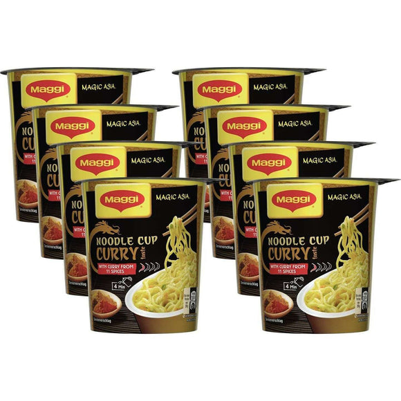 Spar King-Maggi Magic Asia Noodle Cup Curry Instant Nudelsnack Nudeln asiatisch 8 x 63 g